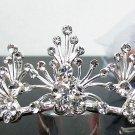 Silver Fancy Bridal tiara;crystal wedding tiara ;bridesmaid headpiece;Teen girt headband #36