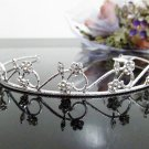 Silver Fancy Bridal tiara;crystal wedding tiara ;bridesmaid headpiece;Teen girt headband #882
