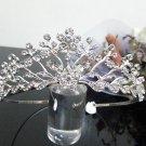 Silver Fancy Bridal tiara;crystal wedding tiara ;bridesmaid headpiece;Teen girt headband #1019