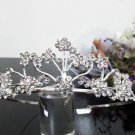Silver Fancy Bridal tiara;crystal wedding tiara ;bridesmaid headpiece;Teen girt headband #1021
