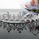 Silver Fancy Bridal tiara;crystal wedding tiara ;bridesmaid headpiece;Teen girt headband #1036