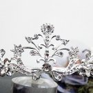 Silver Fancy Bridal tiara;crystal wedding tiara ;bridesmaid headpiece;Teen girt headband #1062