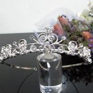 Silver Fancy Bridal tiara;crystal wedding tiara ;bridesmaid headpiece;Teen girt headband #1067
