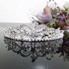 Silver Fancy Bridal tiara;crystal wedding tiara ;bridesmaid headpiece;Teen girt headband #1098