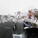Silver Fancy Bridal tiara;crystal wedding tiara ;bridesmaid headpiece;Teen girt headband #1112
