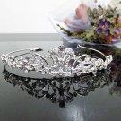 Silver Fancy Bridal tiara;crystal wedding tiara ;bridesmaid headpiece;Teen girt headband #1123