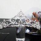 Silver Fancy Bridal tiara;crystal wedding tiara ;bridesmaid headpiece;Teen girt headband #1172