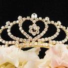 Golden Sweet Fancy Bridal tiara;crystal wedding tiara ;bridesmaid headpiece;bride headband #3422g