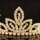 Golden Sweet Bridal tiara;crystal wedding tiara ;bridesmaid headpiece;Teen girt headband #8241g