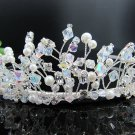 Crystal Handmade Fancy Bride Hair accessories;Bridal Tiara;Silver Rhinestone Wedding Headband#7783