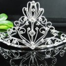 Huge Gorgeous Bride regal ;Bridal Tiara;Silver Rhinestone Wedding Headband;opera tiara#871