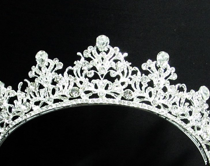 Gorgeous Bride regal ;Bridal Tiara;dancer regal ;Silver Rhinestone Wedding Headband;opera tiara#04