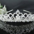 Sweet Bride regal ;Bridal Tiara;dancer regal ;Silver Rhinestone Wedding Headband;opera tiara#1624
