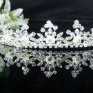 elegance silver Bridal Tiara;Bride regal ;dancer regal ;Rhinestone Wedding Headband;opera tiara#1642