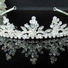silver pearl Bridal Tiara;Bride regal ;dancer regal ;Rhinestone Wedding Headband;opera tiara#1642s