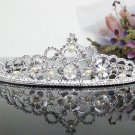 Floral Bridal Tiara;Bride regal ;dancer regal ;Rhinestone Wedding Headband;opera tiara#3457