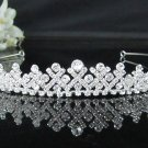Silver Sparkle Bridal Tiara;Bride regal ;dancer regal ;Rhinestone Wedding Headband;opera tiara#6958