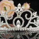 Silver Bridal Tiara;Bride regal ;dancer regal ;Gorgeous Rhinestone Wedding Headband;opera tiara#2533