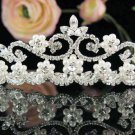 Silver Bridal Tiara;Bride regal ;dancer regal ;Gorgeous Rhinestone Wedding Headband;opera tiara#5001