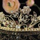 Golden Bridal Tiara;Bride regal ;dancer regal ;Gorgeous Rhinestone Wedding Headband;opera tiara#5788