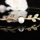 Bridal Tiara;Bride golden headband;dancer regal ;Rhinestone Wedding Headpiece;opera tiara#532g