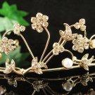 Bridal Tiara;Bride golden headband;dancer regal ;Rhinestone Wedding Headpiece;opera tiara#531g