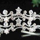 Bridal Tiara;Bride Silver Regal;dancer regal;Occasion comb;opera Rhinestone Wedding tiara#6424