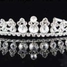 Bridal Tiara;Bride Silver Regal;dancer regal;Occasion comb;opera Rhinestone Wedding tiara#6449