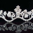 Silver Bridesmaid Regal Bridal Tiara;dancer regal;Occasion comb;opera Rhinestone Wedding tiara#6829
