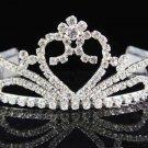 Bridal Tiara;Bride Silver Regal;dancer regal;Occasion comb;opera Rhinestone Wedding tiara#6806