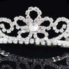 Bridal Tiara;Bride Silver Regal;dancer regal;Occasion comb;opera Rhinestone Wedding tiara#6922