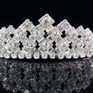 Bridal Tiara;Bride Silver Imperial ;dancer regal;comb;opera Rhinestone Wedding tiara#7274