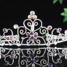 Dancer regal;Bridal Tiara;Bride Silver Imperial ;comb;opera Rhinestone Wedding tiara#7282p