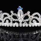 Dancer regal;Bridal Tiara;Bride Silver Imperial ;comb;opera Rhinestone Wedding tiara#7446