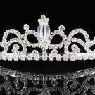 Bride Silver Imperial ;Dancer regal;Bridal Tiara;comb;opera Rhinestone Wedding tiara#7446