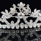 Bride Silver Imperial ;Dancer regal;Bridal Tiara;comb;opera Rhinestone Wedding tiara#7619