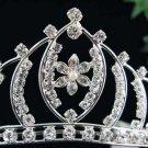 Bride Silver Imperial ;Dancer regal;Bridal Tiara;comb;opera Rhinestone Wedding tiara#7646