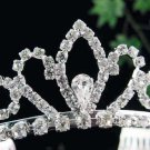 Dancer regal;Bridal Tiara;Bride Silver Imperial ;comb;opera Rhinestone Wedding tiara#7513