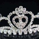 Sweet Dancer regal;Bridal Tiara;Bride Silver Imperial ;comb;opera Rhinestone Wedding tiara#7505