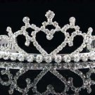 Sweet Dancer regal;Bridal Tiara;Bride Silver Imperial ;comb;opera Rhinestone Wedding tiara#7520