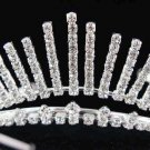 Sweet Dancer regal;Bridal Tiara;Bride Silver Imperial ;comb;opera Rhinestone Wedding tiara#7728