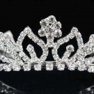 Sweet Dancer regal;Bridal Tiara;Bride Silver Imperial ;comb;opera Rhinestone Wedding tiara#7516