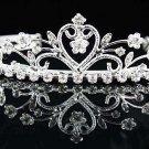 Sweet Dancer regal;Bridal Tiara;Bride Silver Imperial ;comb;opera Rhinestone Wedding tiara#8487