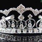 Bride Silver Imperial ;Dancer regal;Bridal Tiara;comb;opera Rhinestone Wedding tiara#8544
