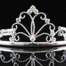 Sweet Dancer regal;Bridal Tiara;Bride Silver Imperial ;comb;opera Rhinestone Wedding tiara#8257