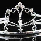 Sweet Dancer regal;Bridal Tiara;Bride Silver Imperial ;comb;opera Rhinestone Wedding tiara#8260