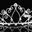 Sweet Dancer regal;Bridal Tiara;Bride Silver Imperial ;comb;opera Rhinestone Wedding tiara#456