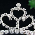 Sweet Dancer regal;Bridal Tiara;Bride Silver Imperial ;comb;opera Rhinestone Wedding tiara#h105
