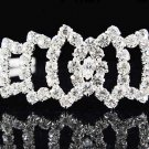 Sweet Dancer regal;Bridal Tiara;Bride Silver Headband ;comb;opera Rhinestone Wedding tiara#h32