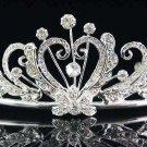 Fancy Bride Silver comb;Sweet Dancer regal;Bridal Tiara;opera Rhinestone Wedding tiara#507